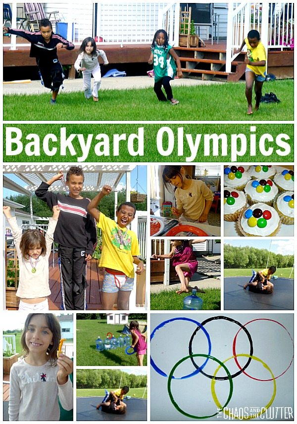 Create your own backyard Olympics complete with awards ceremony
