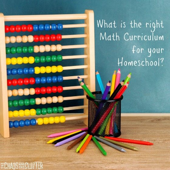 What is the right math curriculum for your homeschool square