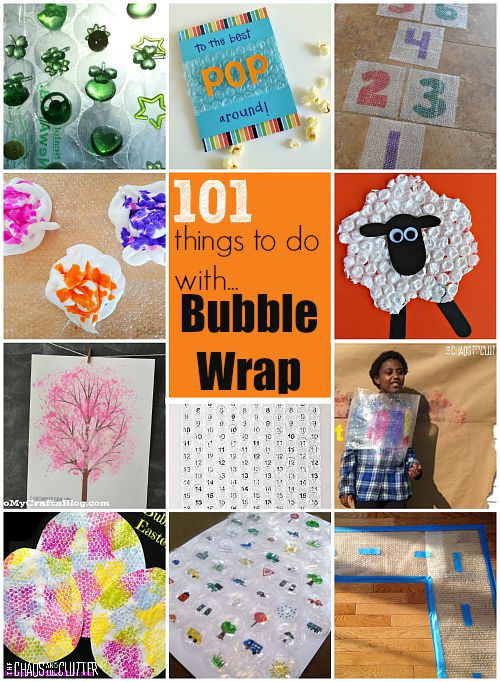 101 things to do with bubble wrap. These ideas are so fun...and not just for the kids!