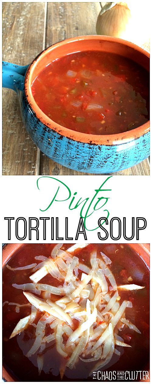 Pinto Tortilla Soup - perfect for warming up on a cool day