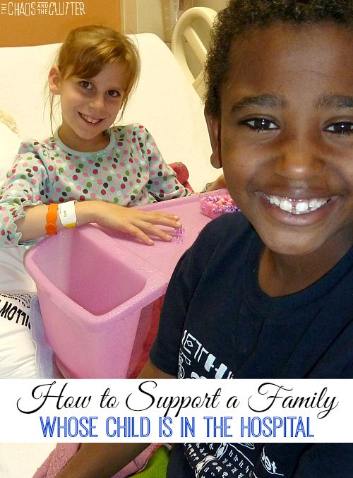 Ways to support a family whose child is in the hospital or has a chronic illness. This is a really great list.