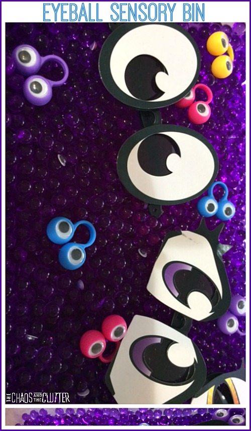 Eyeball Sensory Bin...even popular with older kids.