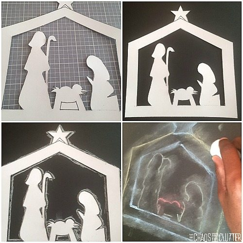 creating a nativity silhouette