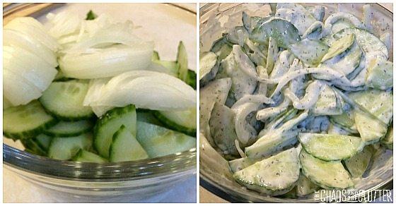 Make Ahead Creamy Cucumber Salad
