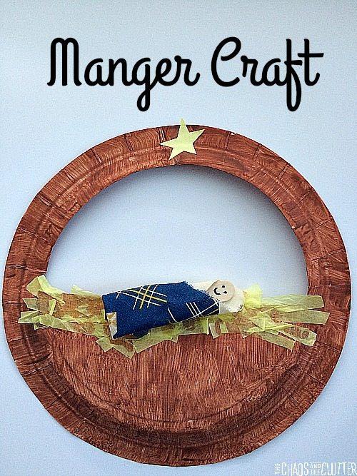 Manger craft for kids for Christmas bible crafts for kids