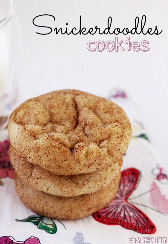 This recipe for Snickerdoodles cookies is about as simple as they come.