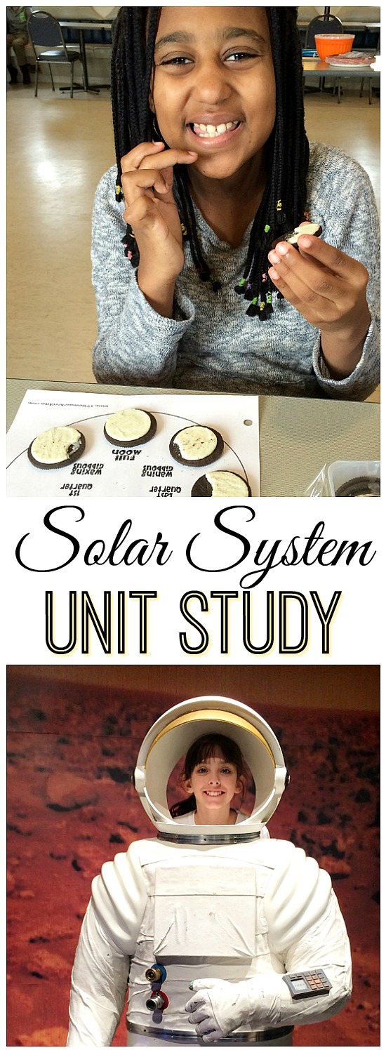 Solar System Unit Study ideas including hands-on learning and printables