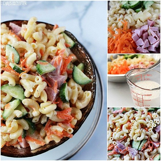 Summer Pasta Salad with pineapple dressing