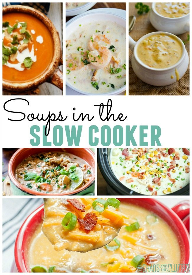 It's so nice to come home to a delicious soup cooking in the crock pot.