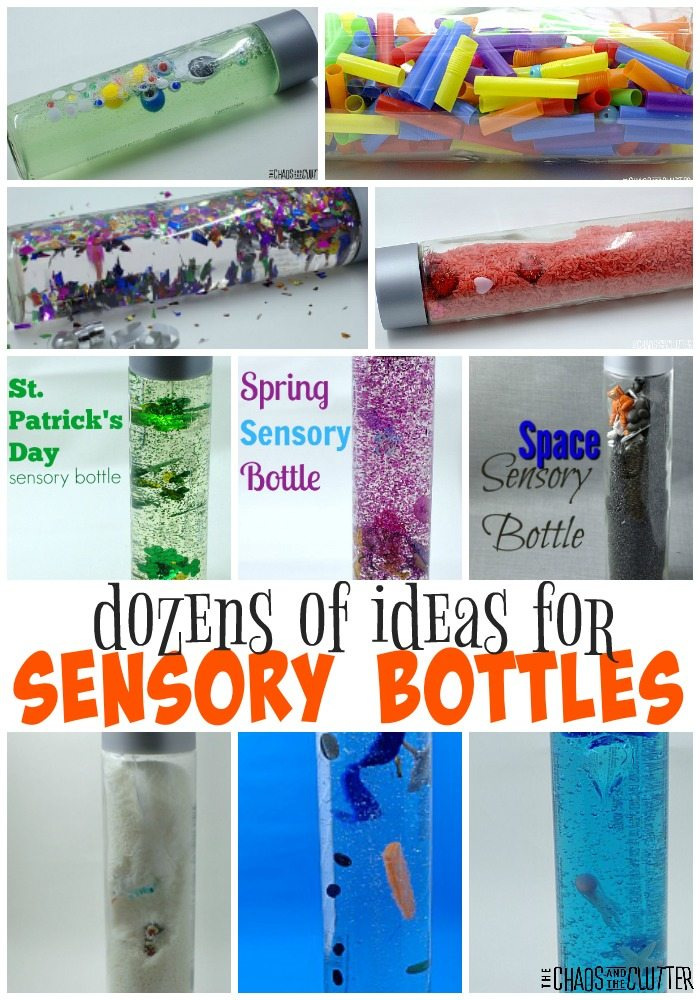So many sensory bottle ideas here!