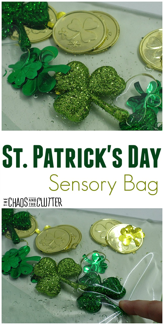This St. Patrick's Day sensory bag is a simple activity to set up for March.