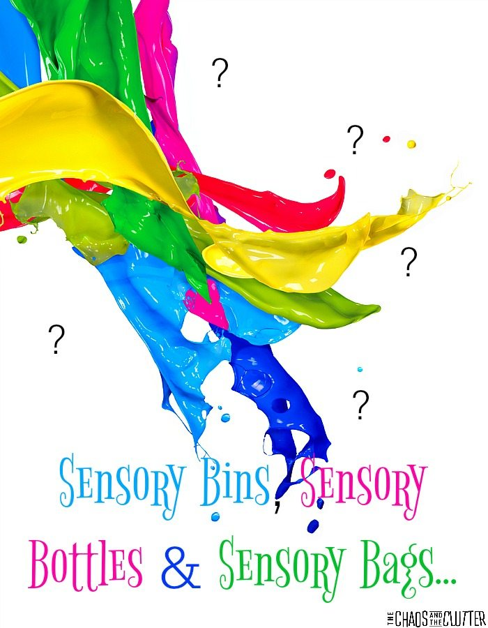 "Have you ever wondered ""What's the point of sensory bins, sensory bottles and sensory bags?"""
