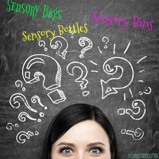 Why Sensory Bins, Sensory Bottles or Sensory Bags?