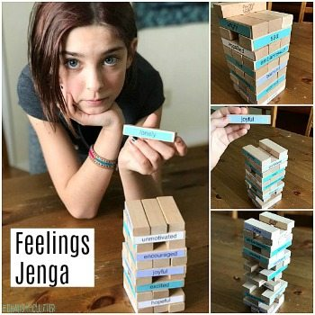 This Jenga Feelings game is a great way to encourage talking about emotions and experiences.