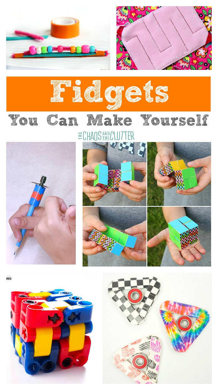 While fidget spinners and fidget cubes are the obvious fidget choice of the moment, there are many fidgets that you can make yourself at home.