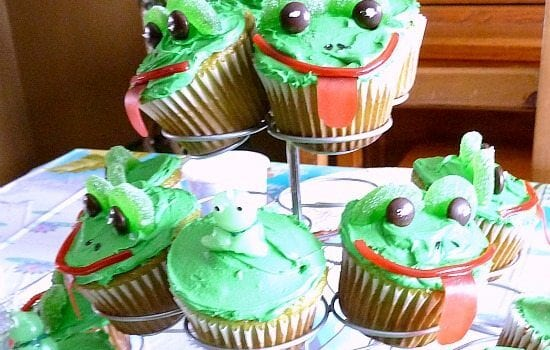 Adorable frog cupcakes - easy to make