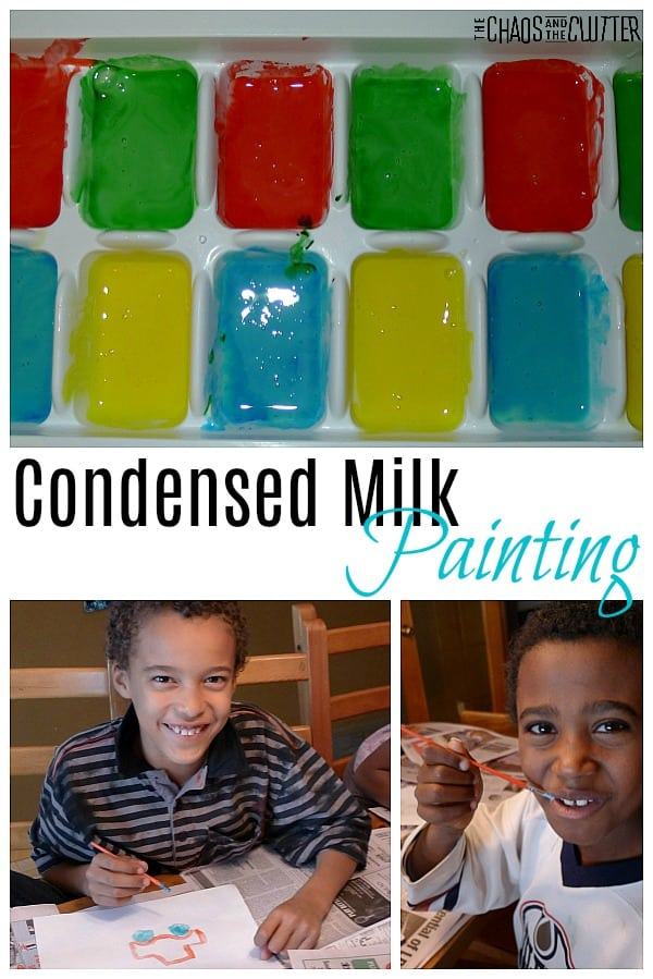 Condensed Milk Painting #sensoryplay #kidsactivities #sensoryplayrecipes