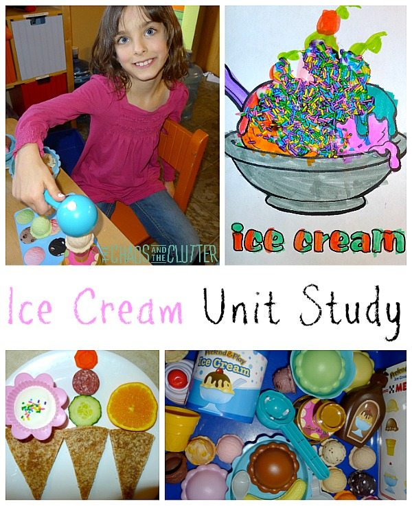 Our ice cream unit study included a lot of hands-on fun activities as well as some learning thrown in for good measure.