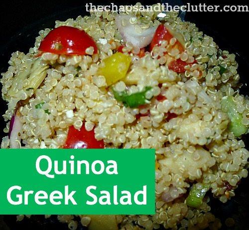 quinoa greek salad recipe - with a variety of veggies...yum!