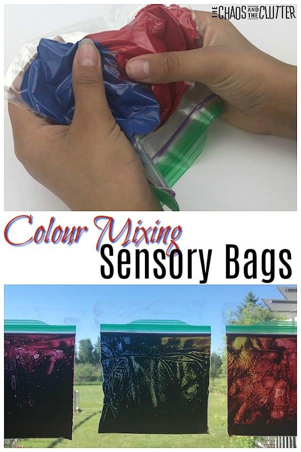Colour Mixing Sensory Bags #sensoryplay #sensorybags #sensoryscience