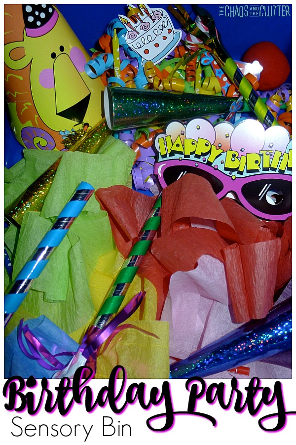 Birthday Party Sensory Bin #sensorybins #sensoryplay #kidsactivities