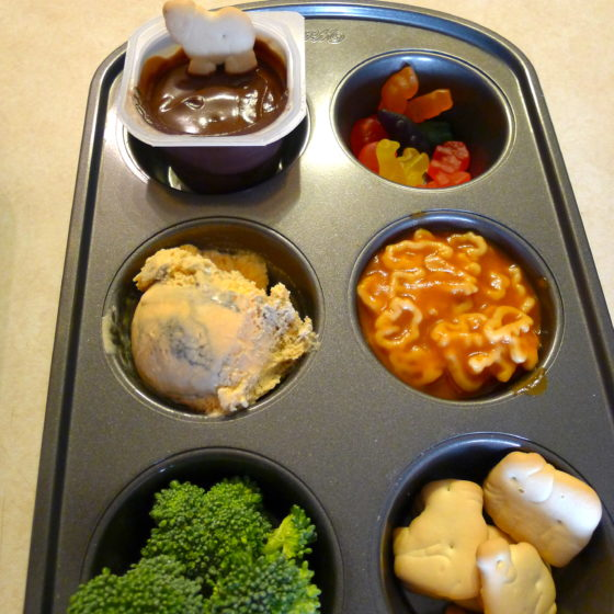 zoo muffin tin lunch
