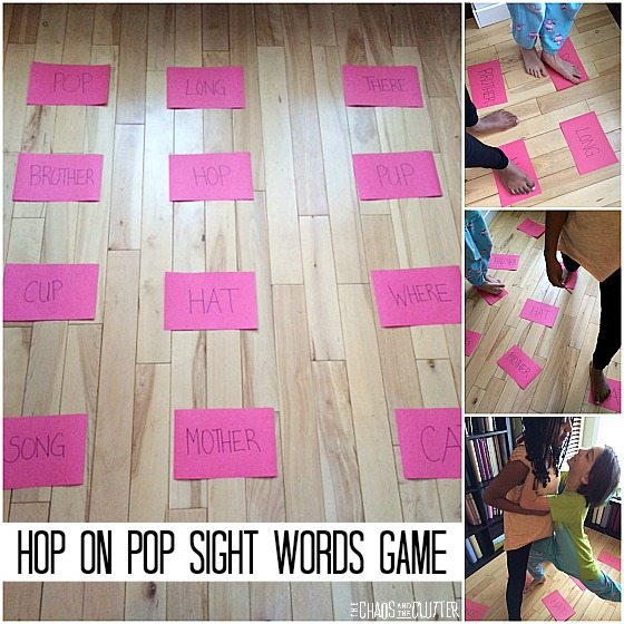 Hop on Pop Sight Words Game