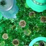 Simple St. Patrick's Day Sensory Bin for kids