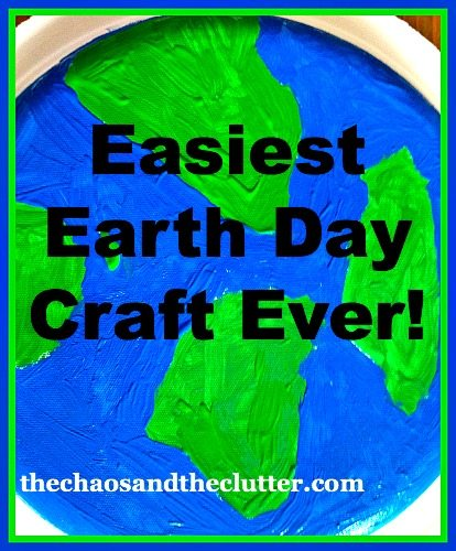 Easiest Earth Day Craft Ever but it does help encourage kids to think of ways they can help take care of their planet.