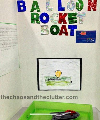 balloon rocket boat project