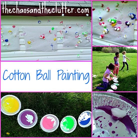 Cotton Ball Throw Painting