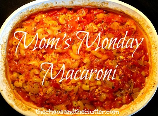 Mom's Monday Macaroni Casserole - made without having to precook the noodles!