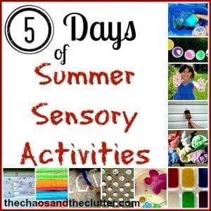 Summer Sensory Activities Series