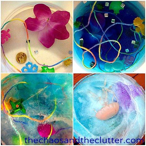 making frozen treasure find in an ice cream pail