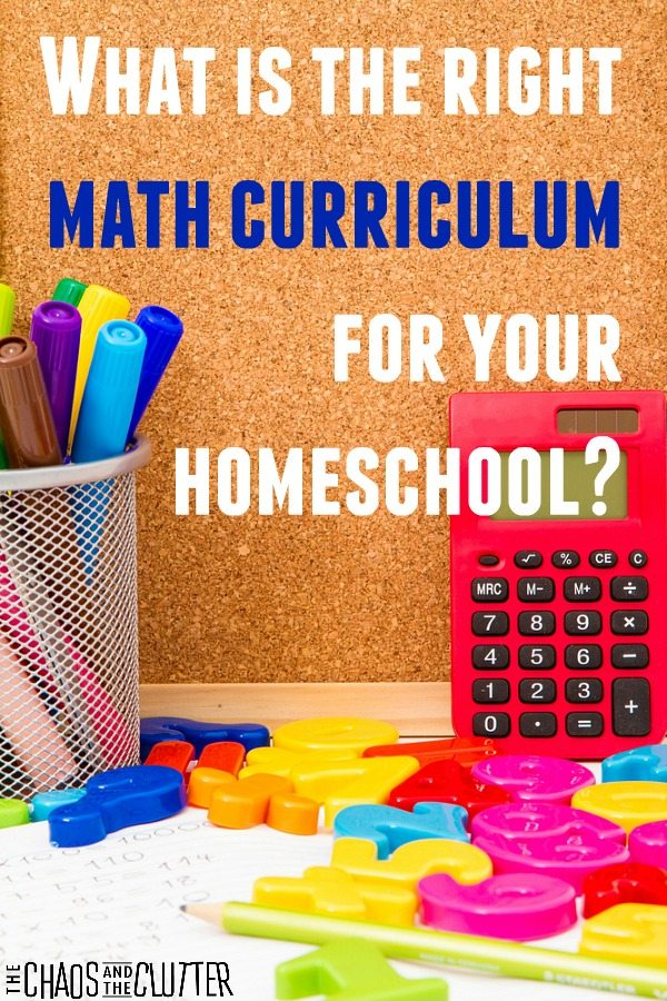 What is the Right Math Curriculum for your Homeschool? A breakdown of the different math curriculums available