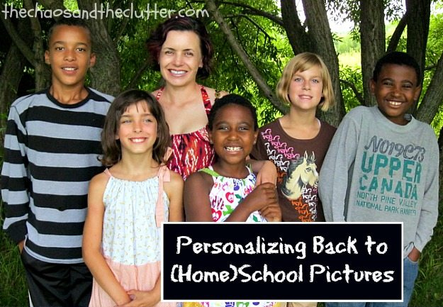 Personalizing Back to School Pictures