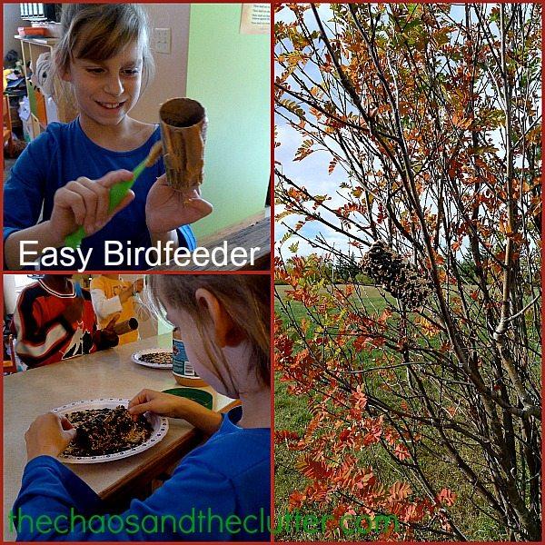 easy birdfeeder