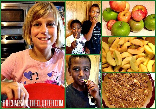 fun making gluten free apple crisp