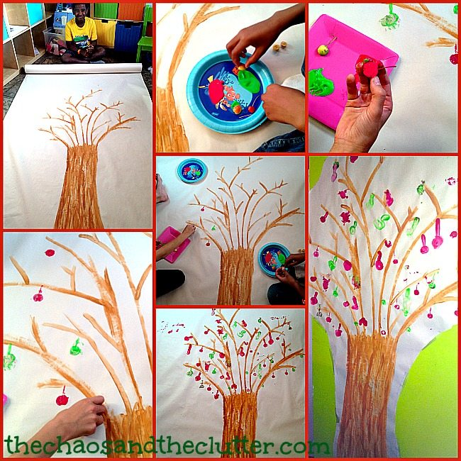 How to Create an Easy Fall Apple Tree Print Painting