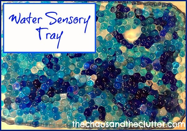 Water Sensory Tray