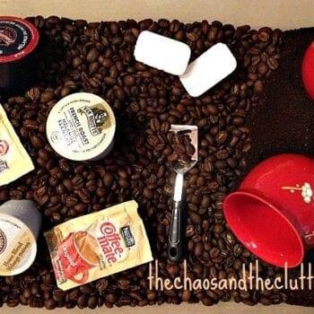 coffee sensory bin