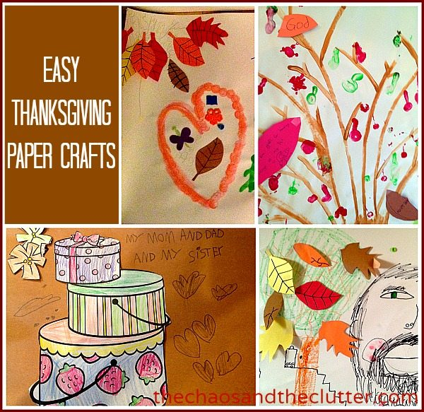 Easy Thanksgiving Paper Crafts