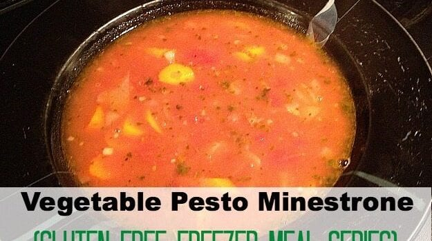 Vegetable Pesto Minestrone (Gluten Free Freezer Meal Series at The Chaos and The Clutter)