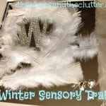Winter Sensory Tray on a mirror