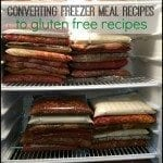 Tips for how to convert freezer meal recipes to gluten free