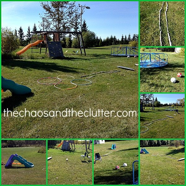 simple backyard obstacle course