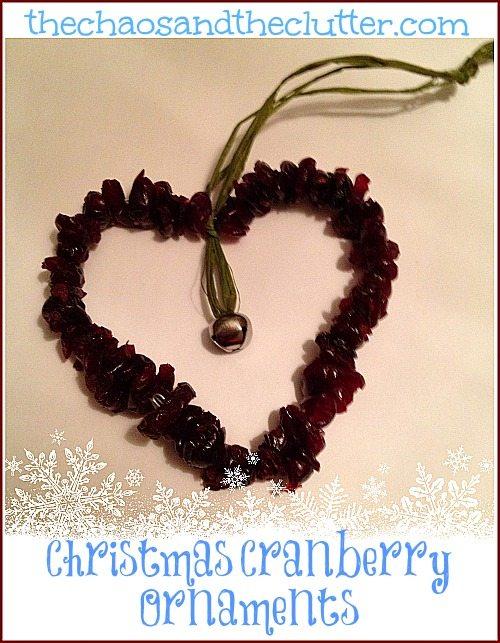 Christmas Cranberry Ornament
