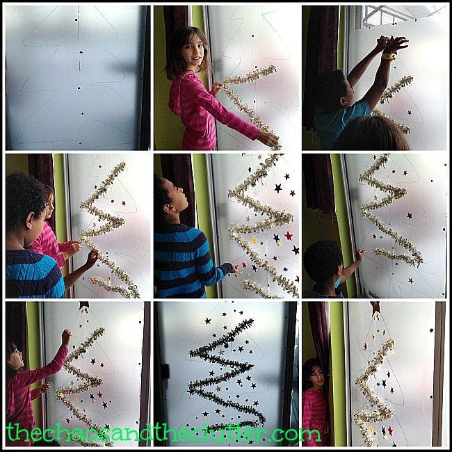 Christmas Sticky Tree Sensory Activity