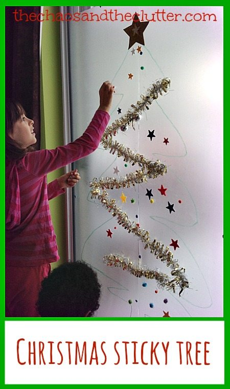 Christmas Sticky Tree at The Chaos and The Clutter