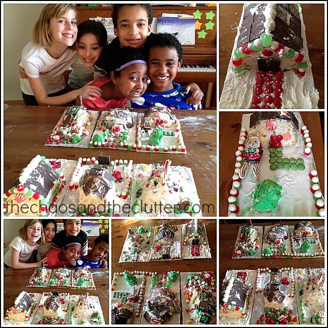Rice Krispie Candy Houses
